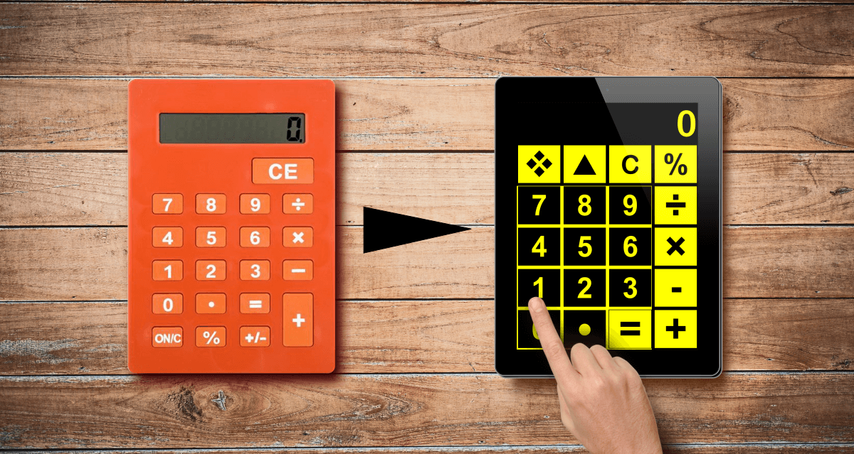 Big Calc is like a large print calculator